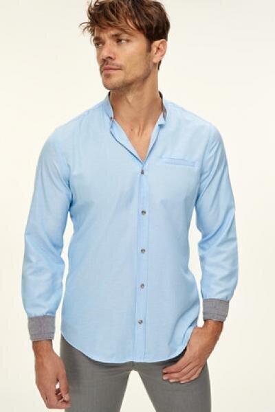 Vīriešu krekls zilā krāsā cena un informācija | Vīriešu krekli | 220.lv