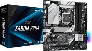 ASRock Z490M Pro4 cena un informācija | ASRock Z490M Pro4 | 220.lv