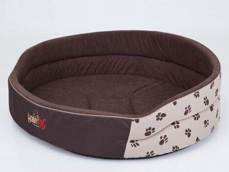 Hobbydog guļvieta Ķepas R1, brūna/smilškrāsas, 42x30 cm cena un informācija | Gultas, spilveni un būdas | 220.lv