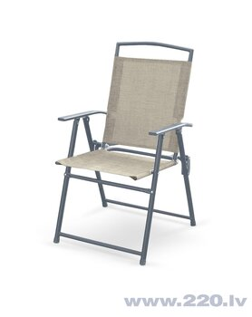 6-u saliekamu krēslu Halmar Rocky komplekts, pelēks cena un informācija | Dārza krēsli | 220.lv