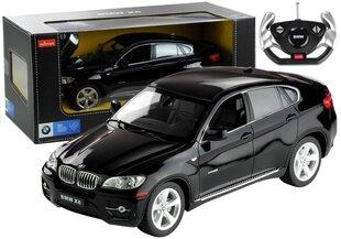 Automobilis BMW X6 ar tālvadības pulti 1:14, melns cena un informācija | Automobilis BMW X6 ar tālvadības pulti 1:14, melns | 220.lv