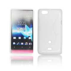 Forcell Back Case S-Line Чехол для мобильного телефона Sony Xperia Miro ST23i, Белый