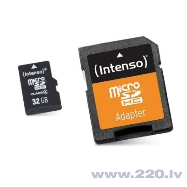 INTENSO 32 GB MicroSDHC with Adapter Class 10