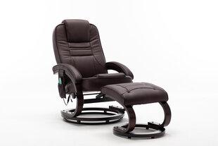 Krēsls regulaineris ar masāžas un sildīšanas funkciju NORE Milo, tumši brūns cena un informācija | Atpūtas krēsli | 220.lv