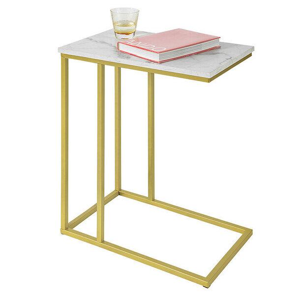 Kafijas galdiņš SoBuy FBT87-G, zelta krāsas