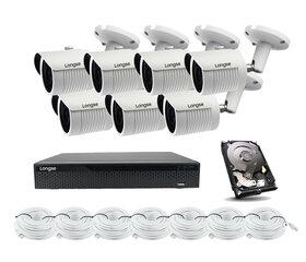 5Mp IP kameru komplekts Longse - 7 kameras LBH30SS500, ar POE cena un informācija | 5Mp IP kameru komplekts Longse - 7 kameras LBH30SS500, ar POE | 220.lv