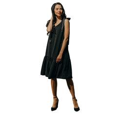 Melna kleita ar volānu BRANCHESS cena un informācija | Kleitas | 220.lv