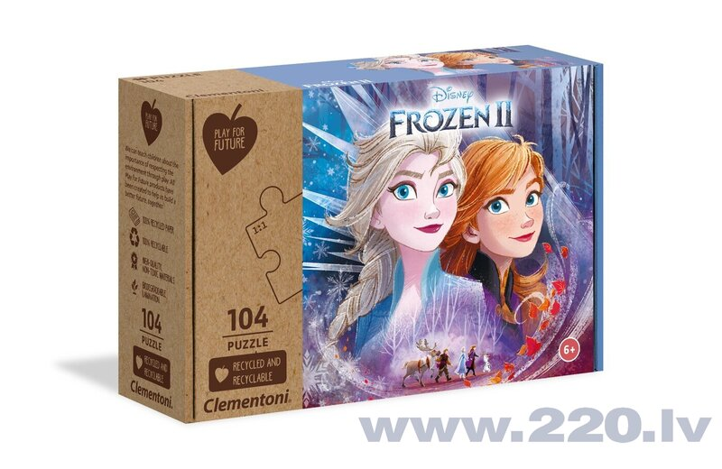 Puzle Clementoni Play For Future Ledus sirds 2 (Frozen 2), 104 d.