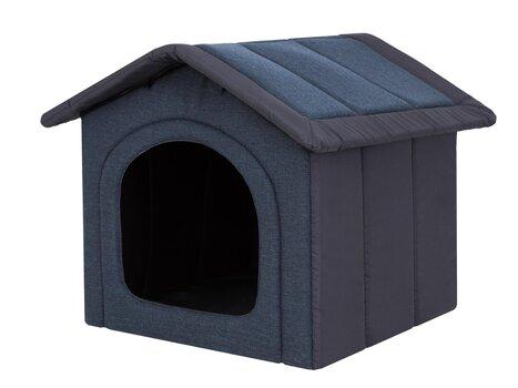 Guļvieta-būda Hobbydog Inari Dark Blue, 60x55 cm cena un informācija | Gultas, spilveni un būdas | 220.lv