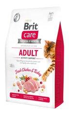 Brit Care bezgraudu barība pieaugušiem aktīviem kaķiem, 2 kg cena un informācija | Sausā barība kaķiem | 220.lv