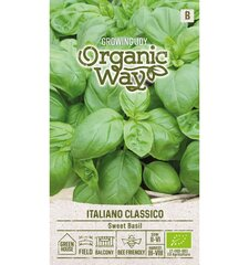 Baziliks smarž. Italiano Classico Organic Way 0,5 g cena un informācija | Garšvielu sēklas | 220.lv
