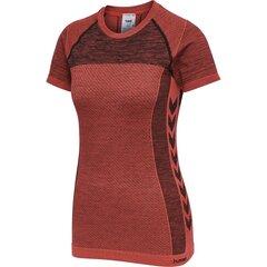 T-krekls sievietēm Hummel Clea Seamless, sarkans cena un informācija | T-krekli sievietēm | 220.lv