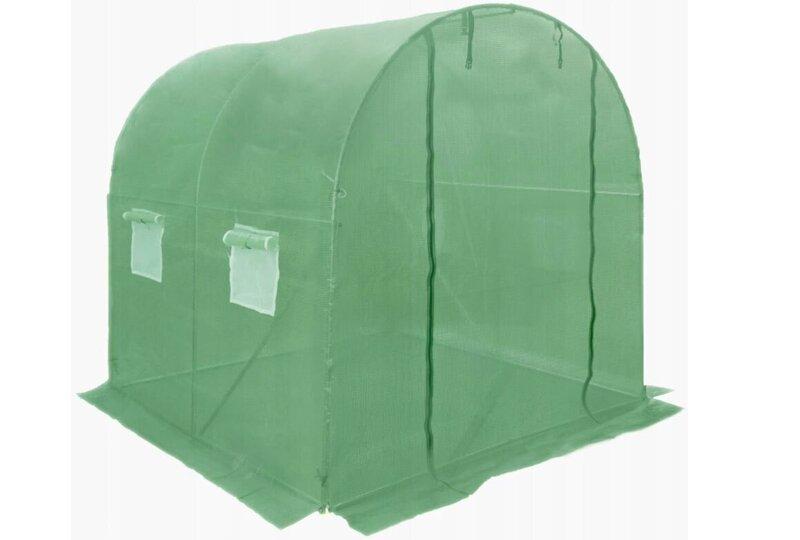 Siltumnīca zaļa ar logiem 4 m2 internetā