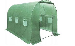 Siltumnīca zaļa ar logiem 8 m2 cena un informācija | Siltumnīcas | 220.lv