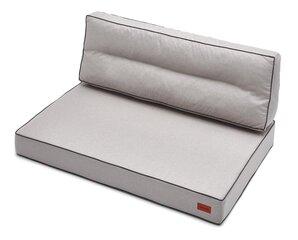 Spilvenu komplekts paletēm Karol 1+1, 120 cm, smilškrāsas cena un informācija | Krēslu paliktņi | 220.lv
