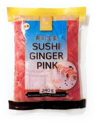 Ingvers marinēts, rozā, Golden Turtle Brand, 240 g cena un informācija | Ingvers marinēts, rozā, Golden Turtle Brand, 240 g | 220.lv