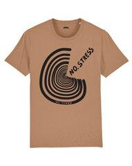 Unisekss T-krekls No stress, camel brūns cena un informācija | T-krekli sievietēm | 220.lv