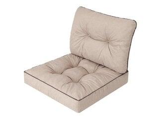 Spilvenu komplekts krēslam Emma Tech 70 cm, bēšs cena un informācija | Krēslu paliktņi | 220.lv