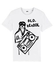 Unisekss T-krekls Old School, balts cena un informācija | T-krekli sievietēm | 220.lv