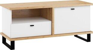 TV galdiņš Meblocross Cross Cro-19 1D1S, brūns/balts cena un informācija | TV galdiņi | 220.lv