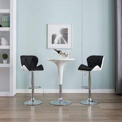 vidaXL bāra krēsli, 2 gab., melna mākslīgā āda cena un informācija | vidaXL bāra krēsli, 2 gab., melna mākslīgā āda | 220.lv