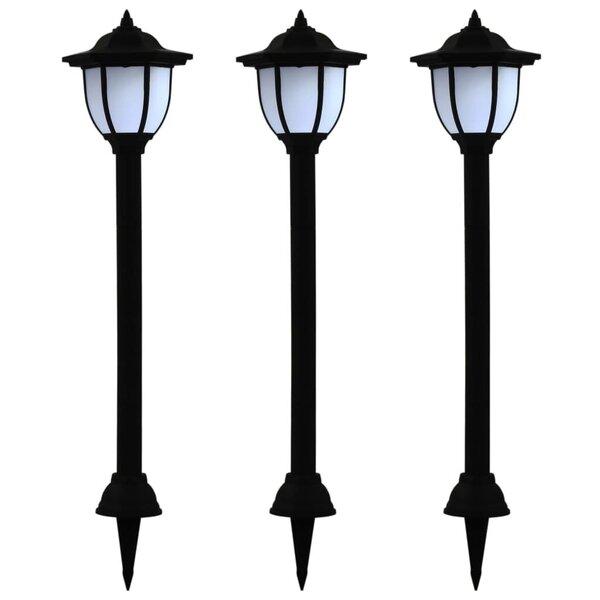 vidaXL āra LED solārās lampas, 3 gab., melnas atsauksme