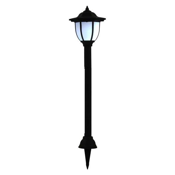 vidaXL āra LED solārās lampas, 3 gab., melnas