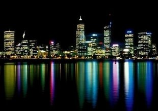 Fototapete Perth at night 183x254 cm