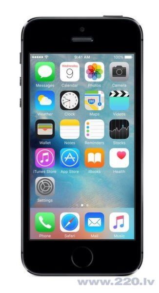 Apple iPhone 5S 16GB LTE Space Grey (astropelēks)
