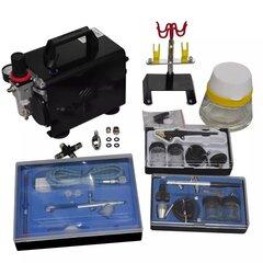 Pulverizatora kompresora komplekts ar 3 pistolēm cena un informācija | Pulverizatora kompresora komplekts ar 3 pistolēm | 220.lv