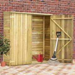 vidaXL dārza šķūnis, 163x50x171 cm, impregnēts priedes koks cena un informācija | Mājiņas/novietnes malkai un instrumentiem | 220.lv