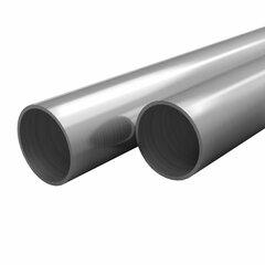 vidaXL nerūsējoša tērauda caurules, 2 gb., apaļas, V2A, 2m, Ø12x1,45mm cena un informācija | Griestu, sienu dekoru elementi | 220.lv