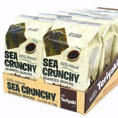 Jūras aļģu uzkodas ar Teriyaki garšu, SEA CRUNCHY, 12 gab. cena un informācija | Uzkodas, čipsi | 220.lv