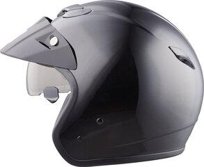 Ķivere ar noņemamu saules aizsargu, melna cena un informācija | Moto ķiveres | 220.lv