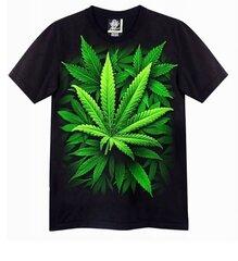 T-krekls ar īsām piedurknēm vīriešiem, Tumsā spīdoša apdruka,Marihuāna cena un informācija | Vīriešu T-krekli | 220.lv