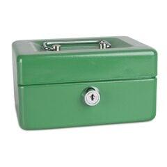 Ящик для денег, 15x11,5x8 см, зеленый цена и информация | Сейфы | 220.lv