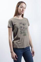 T-krekls sievietēm BLUE SEVEN, haki zaļa cena un informācija | T-krekli sievietēm | 220.lv