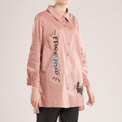 Krekls ar zīmējumu uz muguras, rozā cena un informācija | T-krekli sievietēm | 220.lv